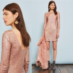 Topshop Pink Sequin Dress Size XS